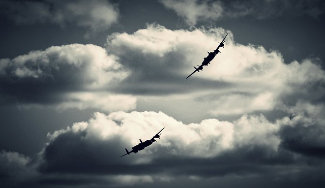 Bring Back an Oldie - 23 Aug 2014 - Canon EOS 60D - Avro Lancasters at Dawlish