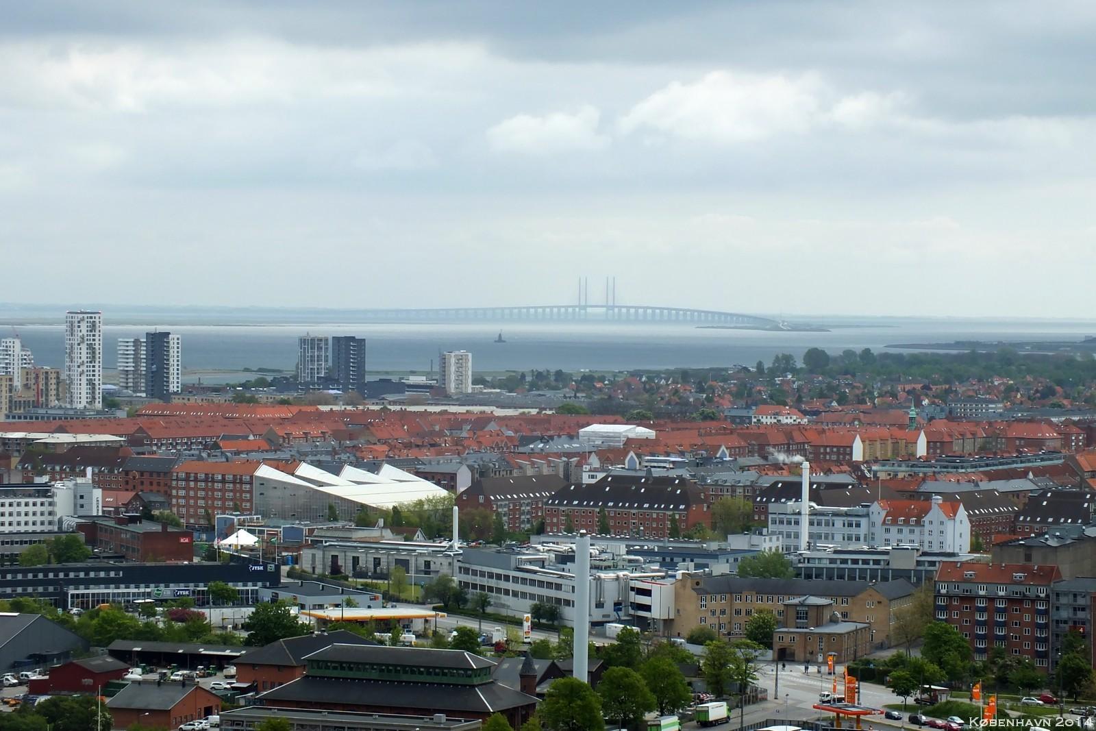 View from Vor Frelsers Kirke — Øresundsbroen, København, Denmark