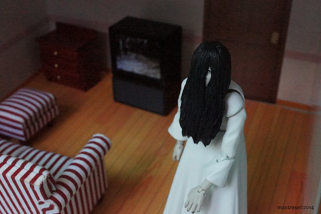 S. H. FIguarts Sadako looking for the toilet