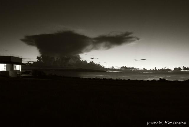 操船中にこういう雲にだけは捕まりたくないですね。。