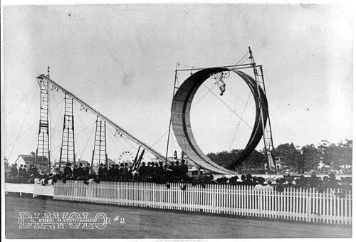 1905 - Daredevel does loop-the-loop on bicycle