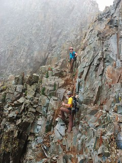 Clare and Seth Climbing Wilson Peak