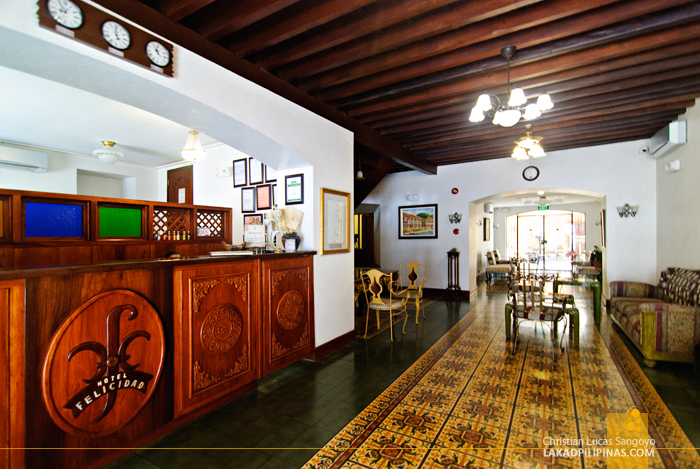 Lobby at Hotel Felicidad in Vigan City