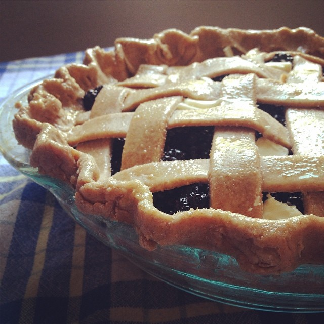 Whole wheat blackberry pie ready for the oven. It\'s whole wheat so I\'m totally eating it for breakfast. #perfectlogictome