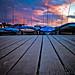 Boats at sunset