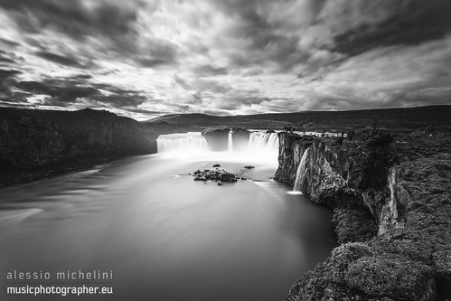 travel nature river landscape waterfall iceland northeast icelandic godafoss