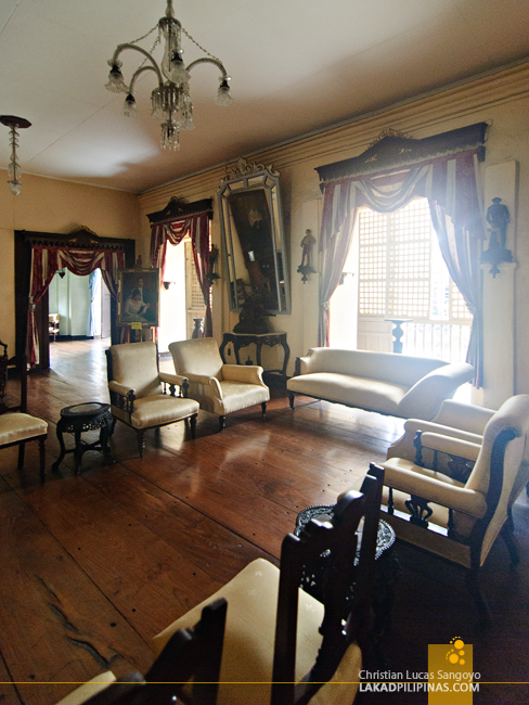 Living Room at Syquia Mansion in Vigan City