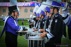 The Northwestern University Drumline ::     The Northwestern University 'Wildcat' Marching Band performs at  Ryan Field as Wildcat Football hosts California on August 30, 2014.  Photo by Daniel M. Reck '08 MSEd.