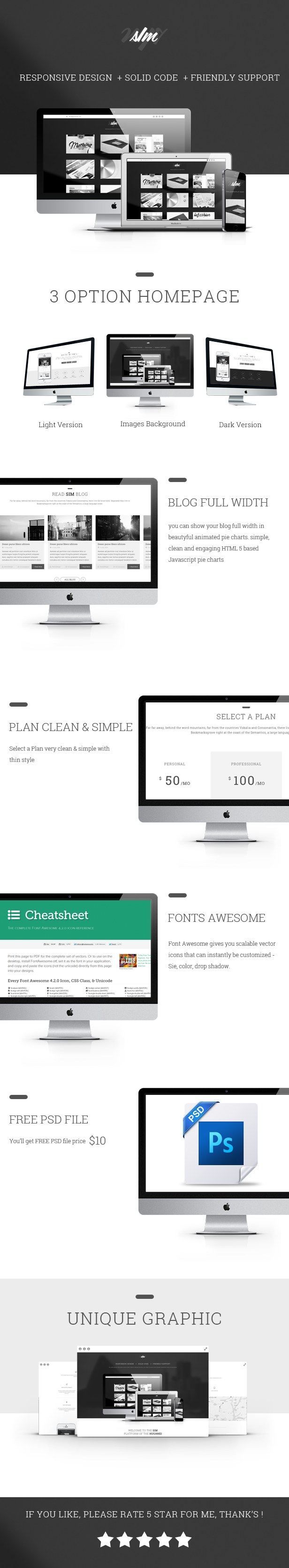 The SIM - Responsive One Page Template