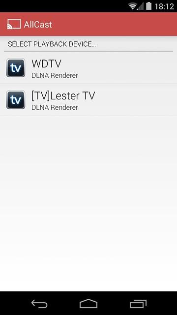 WD TV - Allcast App