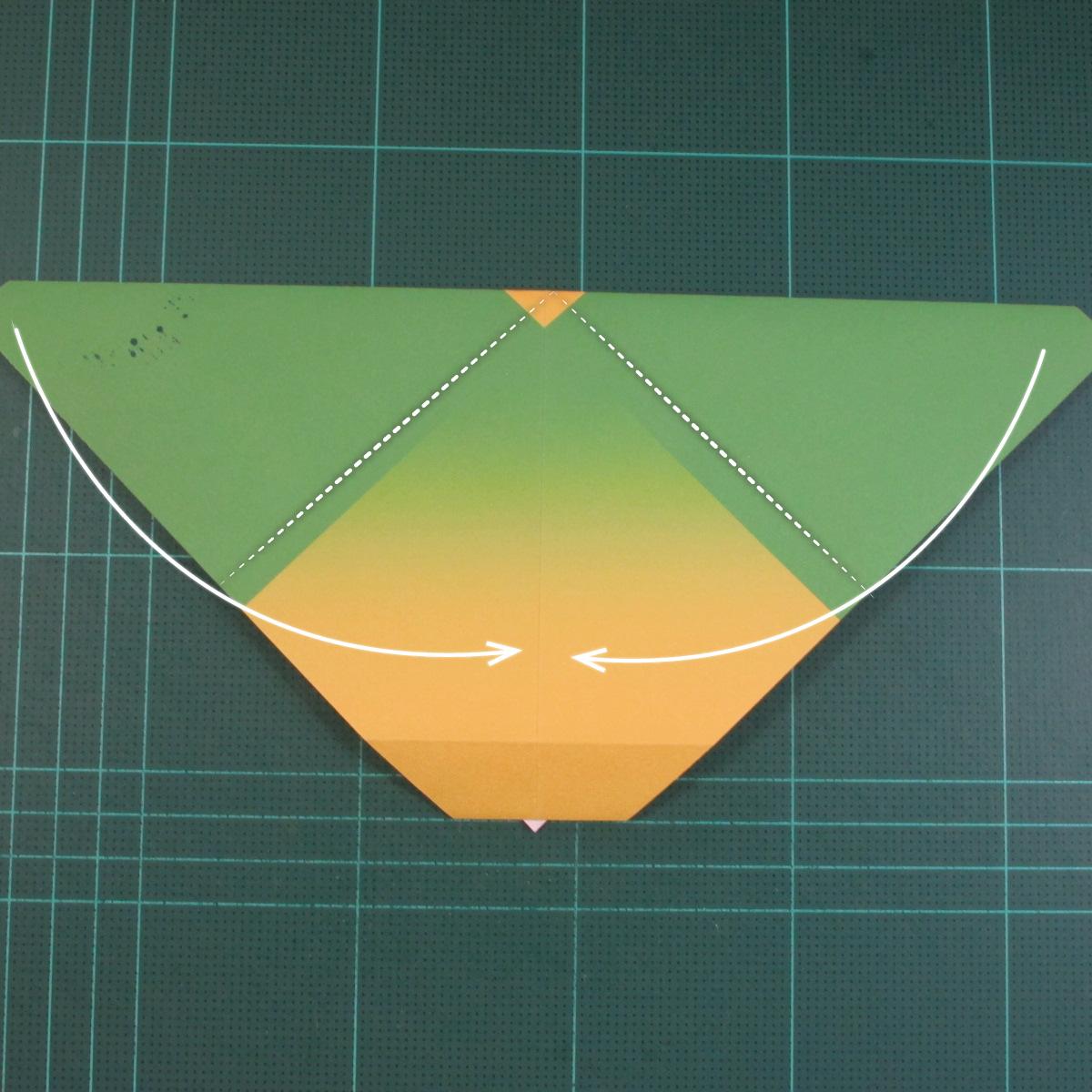 วิธีพับกระดาษเป็นรูปนกแก้ว (Origami Parrot) 007