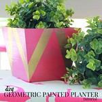 how to make a geometric painted planter tutorial via Kristina J blog