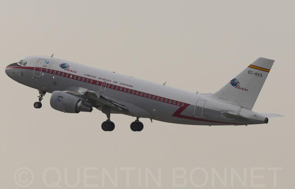 Iberia Airbus A319-111 EC-KKS