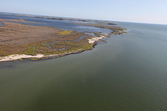 VIDEO: Flying over Glenn Martin National Wildlife Refuge, where a 20,950 foot living shoreline will be constructed at Fog Point in Smith Island, Md. Credit: USFWS