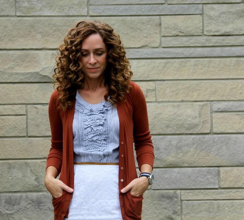how to refashion a blouse into a sheath dress via Kristina J blog tutorial 2