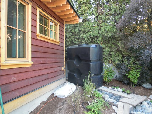 Sept 13 - the rain water harvesting system set-up