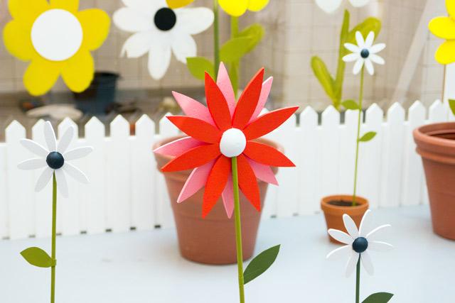 Orla Kiely SS15 flowers sculptures