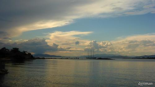 sunset sea summer clouds greece glyfada