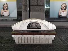 Bench in rain. Rzeszów, Poland