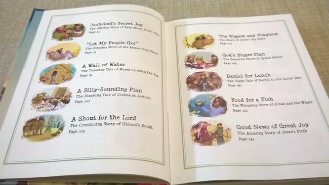 Treasury of Bible Stories - Contents