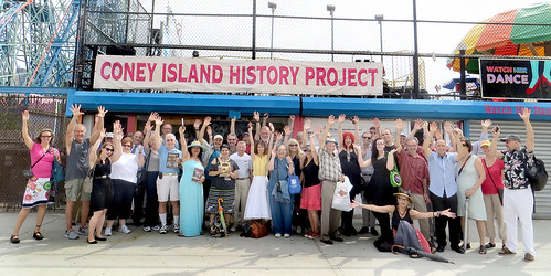Group from Green-Wood visit Coney Island History Project