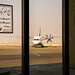 An airplane in Isfahan International Airport, Isfahan イスファハン、シャヒード・ベヘシュティー国際空港