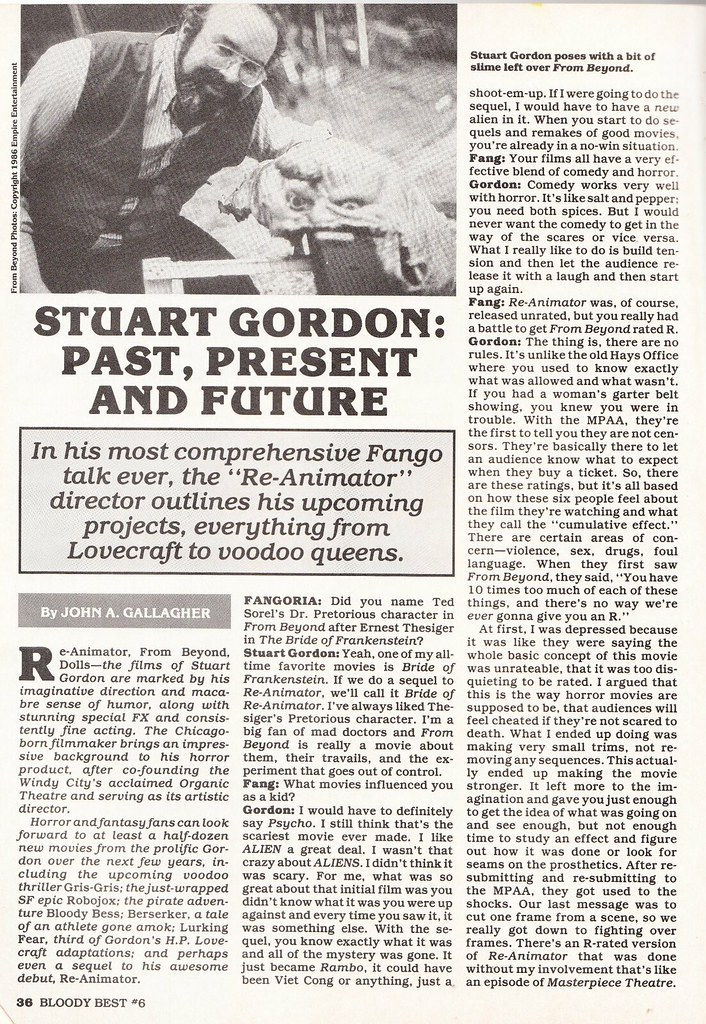 Stuart Gordon interview
