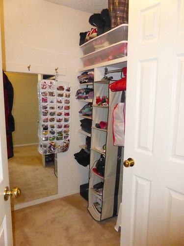 Walk in closet master bedroom