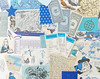 Blue papers - collage pack
