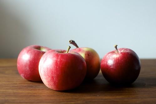 four deceptively tiny apples