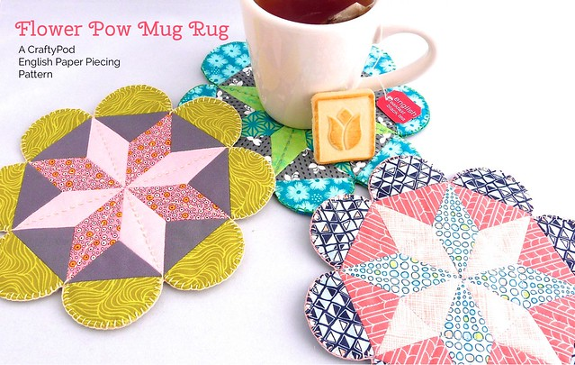 Flower POW Mug Rug: an EPP Pattern