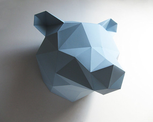 Folded-Paper-Bear