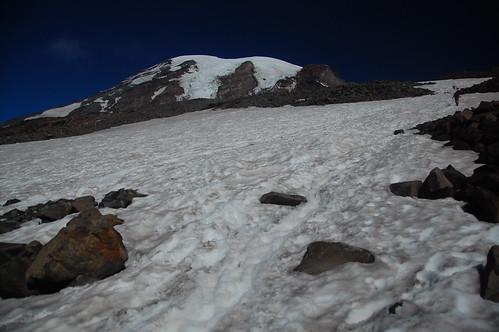 Climbing to Camp Muir