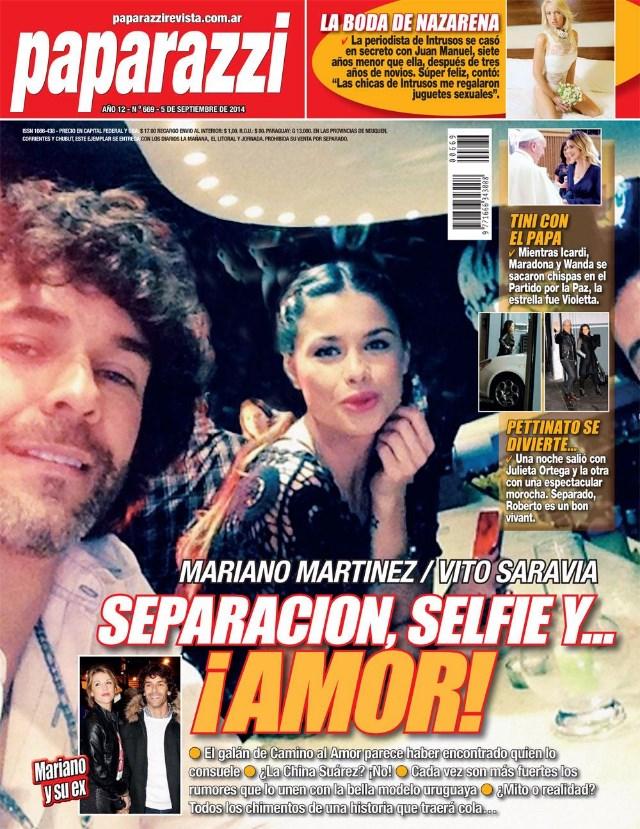 Vito Saravia y Mariano Martínez en la tapa de Paparazzi