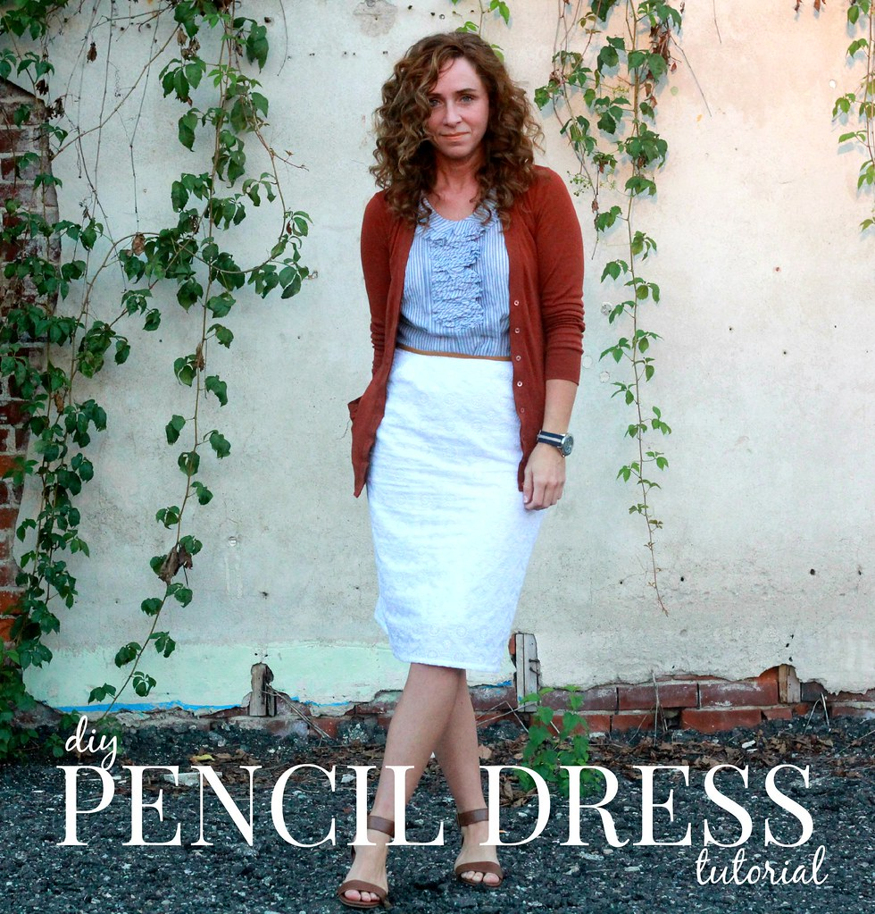 how to make a pencil dress via Kristina J blog