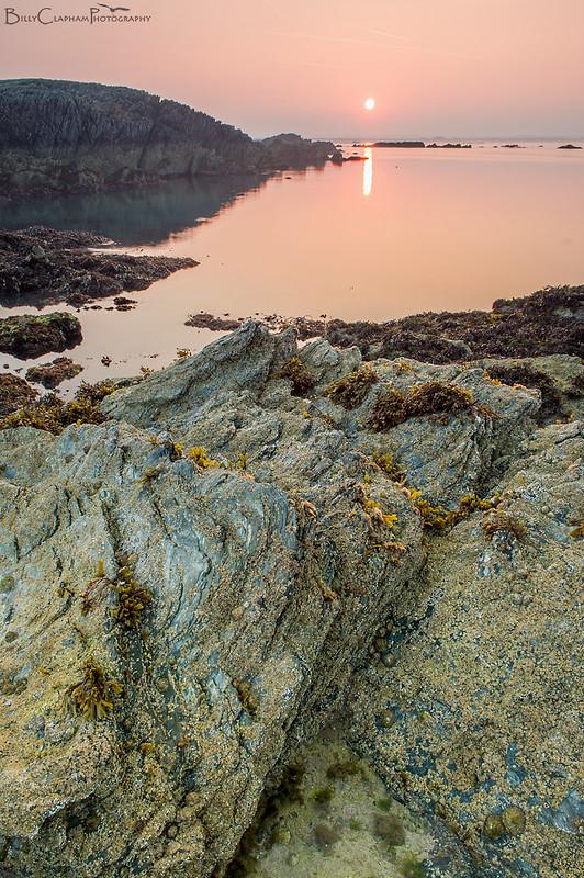 sunrise anglesey rockpool sea coast dawn