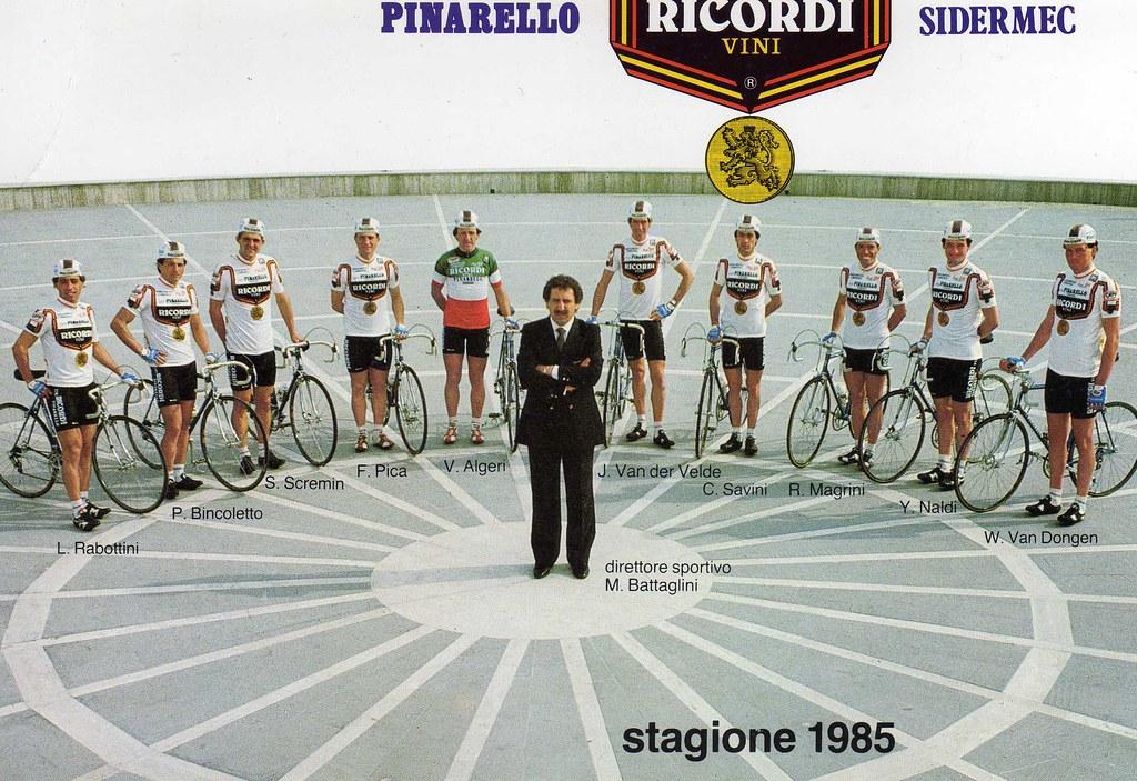 Vini Ricordi - Sidermec - Pinarello 1985