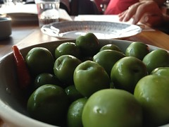 plant(0.0), dish(0.0), vegetable(1.0), olive(1.0), green(1.0), produce(1.0), fruit(1.0), food(1.0),