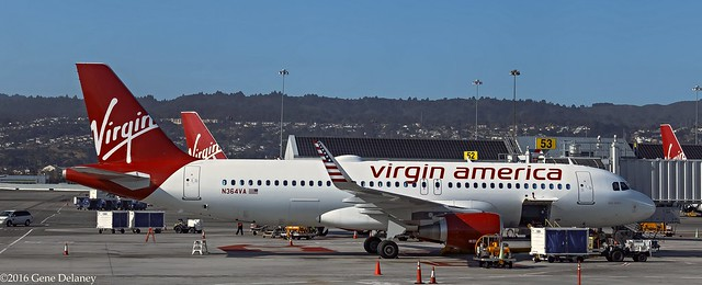 Virgin America Inc, N364VA, 2016 Airbus A320-214(WL), MSN 7138,