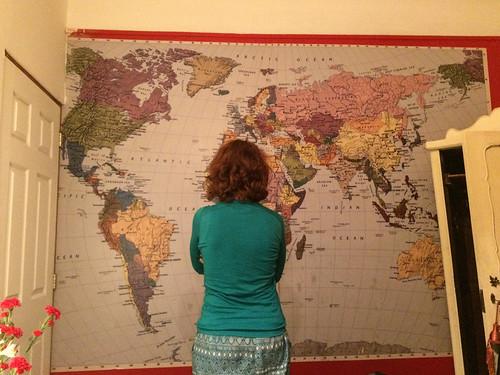 Santiago de Chile: notre chambre d'hôtel. C'est qu'il nous en reste encore des pays à visiter ;)