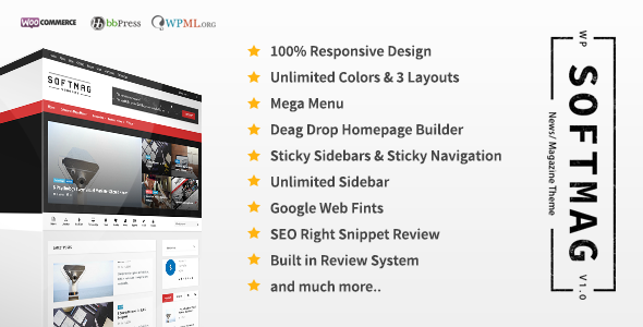 SoftMag v1.0 - SEO Responsive WordPress Magazine