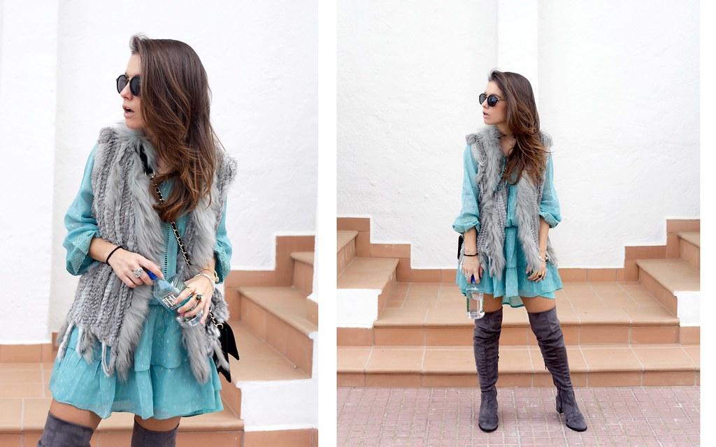 02_vestido_turquesa_y_botas_altas_girses_casual_look_theguestgirl_fashion_blogger_barcelona