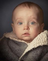 Same jacket, different model. She didn't say a word! #canon5dmarkIII #paulcbuffeinstein #canon24105 #orbisringflash #babyportrait #bigjacket