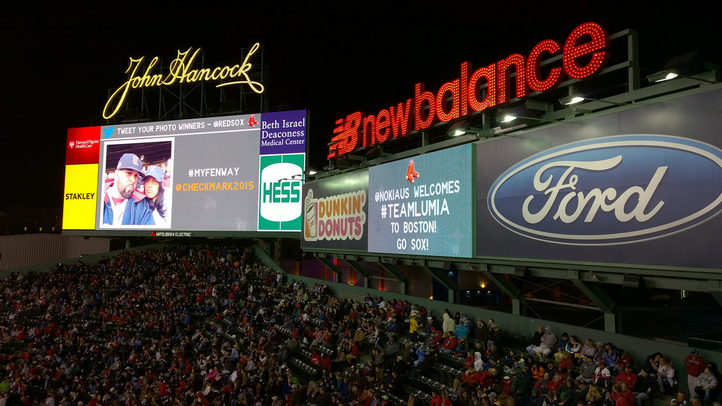 #TeamLumia on the Fenway Scoreboard