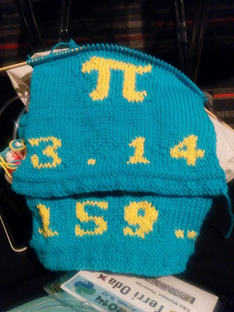 Pi Baby Sweater (front and back viewed together)