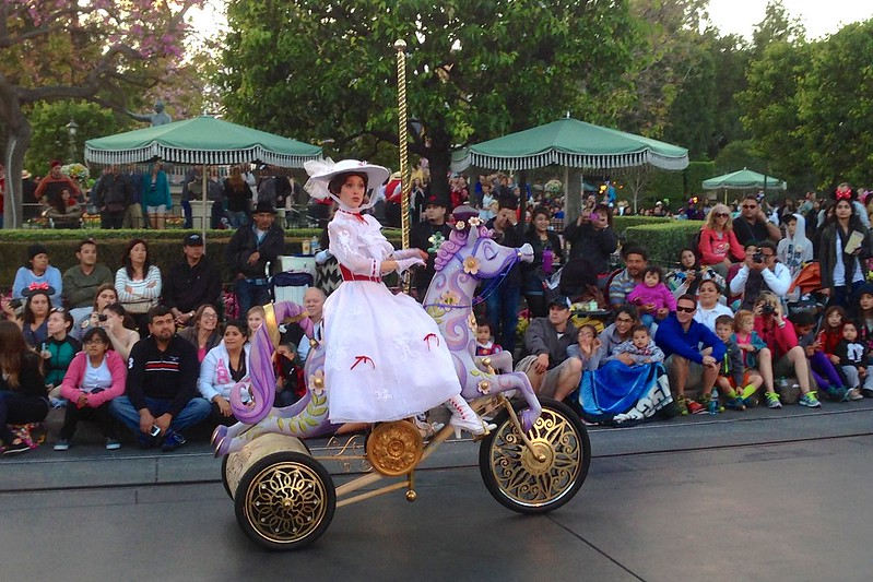 Mary Poppins in Disneyland parade