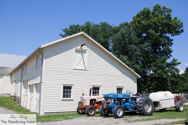 Vintage tractors and one of the barns