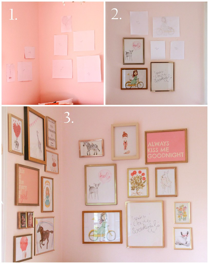 how to hang a corner art gallery via Kristina J blog