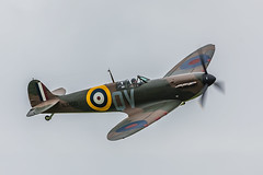 aviation, airplane, propeller driven aircraft, vehicle, supermarine spitfire, fighter aircraft, propeller,