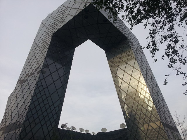 CCTV Headquarters. La sede de la Televisión Central de China. Pekín.